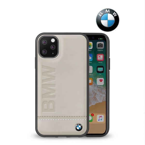 BMW - Imprint Signature Backcase Case Toupe - Casing IPhone 11 Pro Max 6.5 Casing BMW
