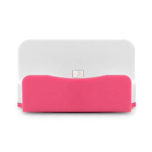 Sicron Charge and Sync Dock - USB Micro 5 Pin - Pink
