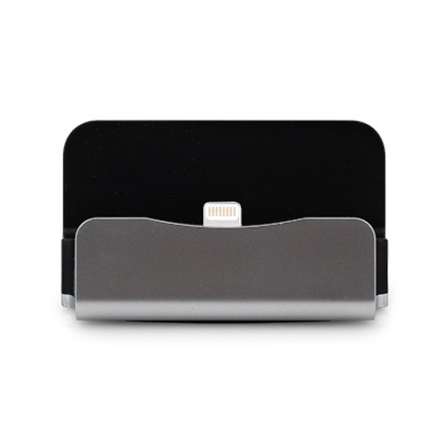 Sicron Charge and Sync Dock - Lightning 8Pin - Silver
