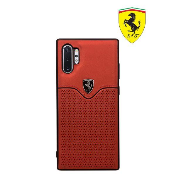 Ferrari Off Track Victory PU Leather Case Red - Casing Galaxy Note 10 Casing Note 10 Plus