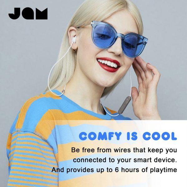 Jam Audio - Live Loose Wireless Earphones Blue Earphone Bluetooth