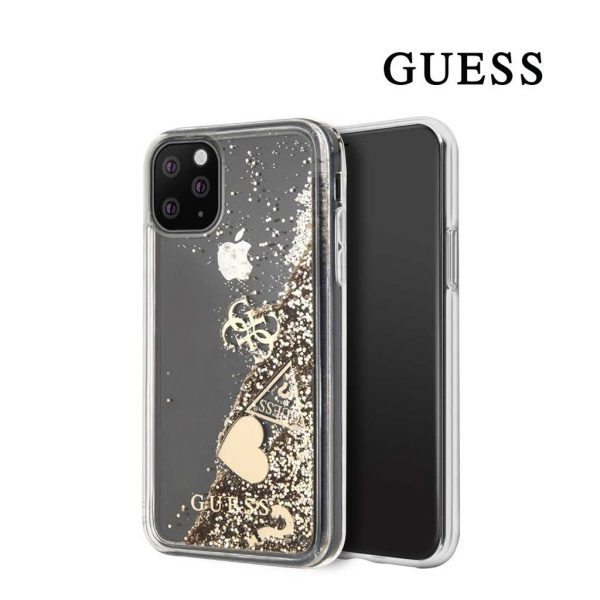 Guess - Hearts Glitter Backcase - Iphone 11 Pro 5.8 - Gold