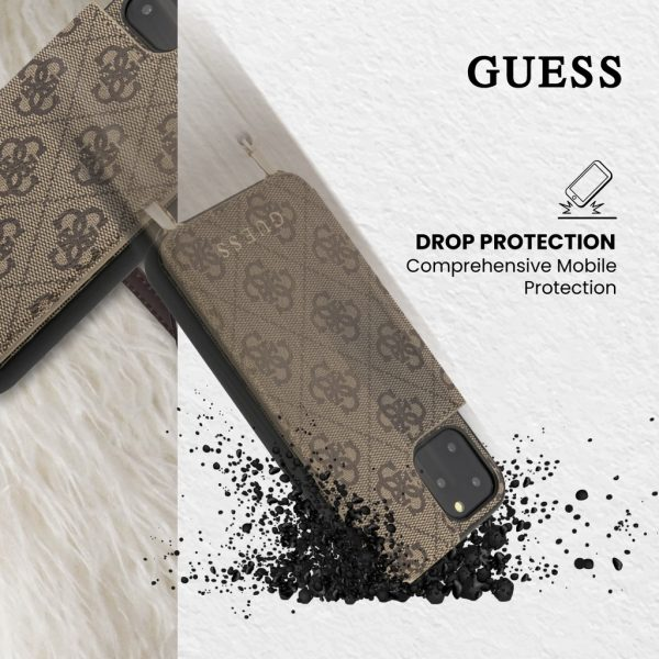 GUESS Crosbody Strap Case Cardslots Case Brown - Casing IPhone 11 Pro Max 6.5 Casing Guess