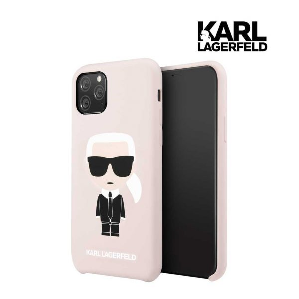 Karl Lagerfeld Silicone Karl Full Body Case Pink - IPhone 11 Pro Max 6.5