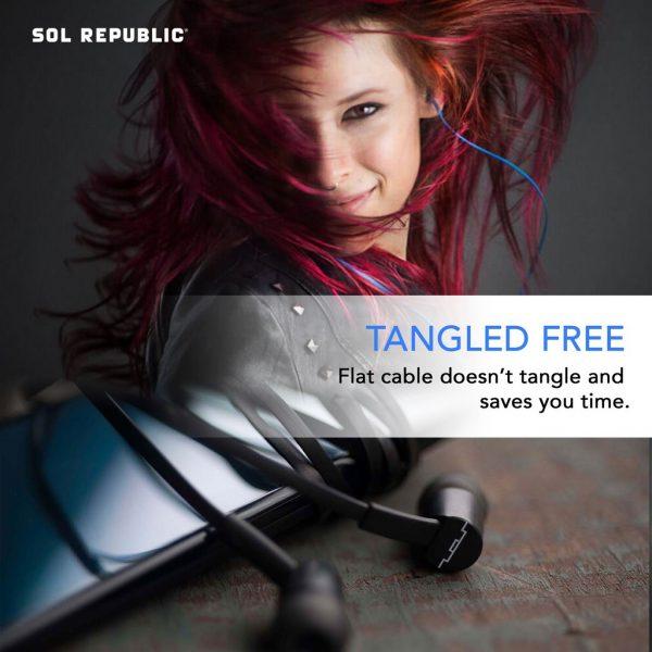 Sol Republic - Jax Wire Earphones 1-Button - Black