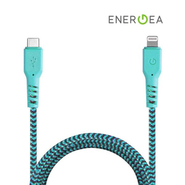 Energea Fibratough Sync Cable USB-C to Lightning 8Pin 1.5mtr- Turqouis