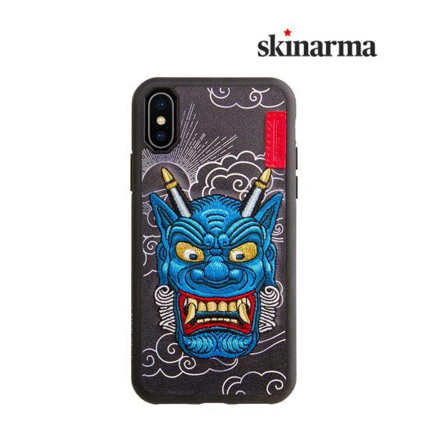 Skinarma Yokai Leather Case Akki Blue - Casing iPhone XR
