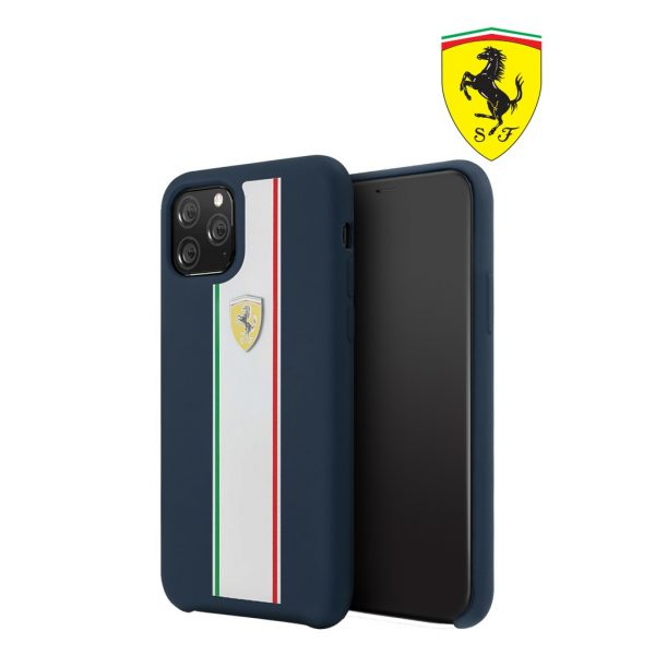 Ferrari On Track Pista Silicon Case Navy - Casing IPhone 11 Pro Max 6.5