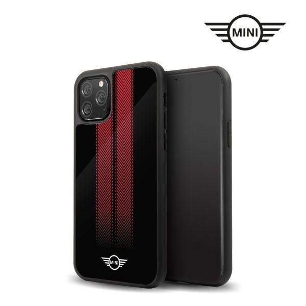Mini Cooper Tire Marks Tempered Glass Case Black - Casing IPhone 11 Pro Max 6.5