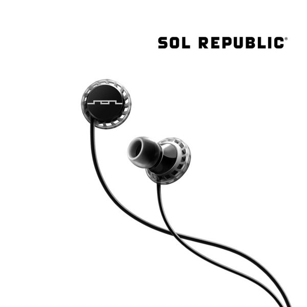 Sol Republic - Relay Sports 3-Button Earphone - Black