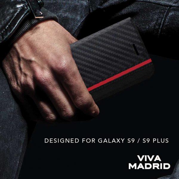 Viva Madrid Folio Grafito Racha Case Stripe (STR) Red - Casing Samsung Galaxy S9 Casing S9