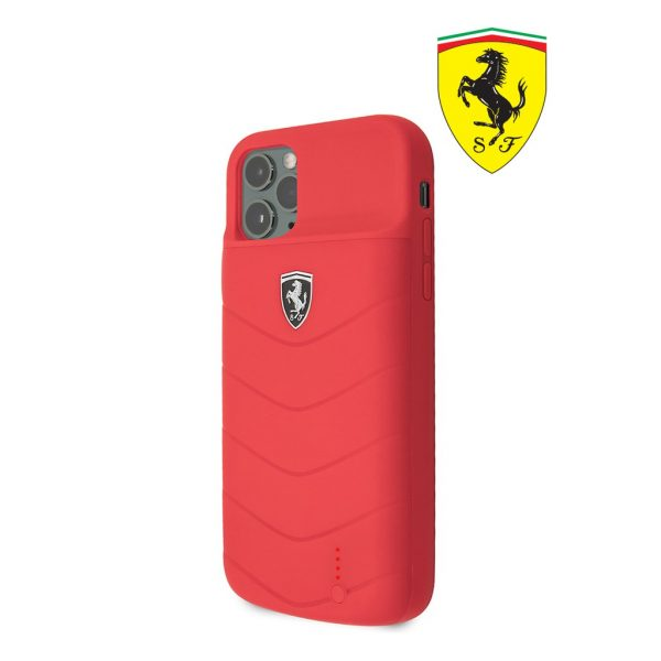 Ferrari Power Case Full Cover 4.000 MaH Red - Casing IPhone 11 Pro 5.8