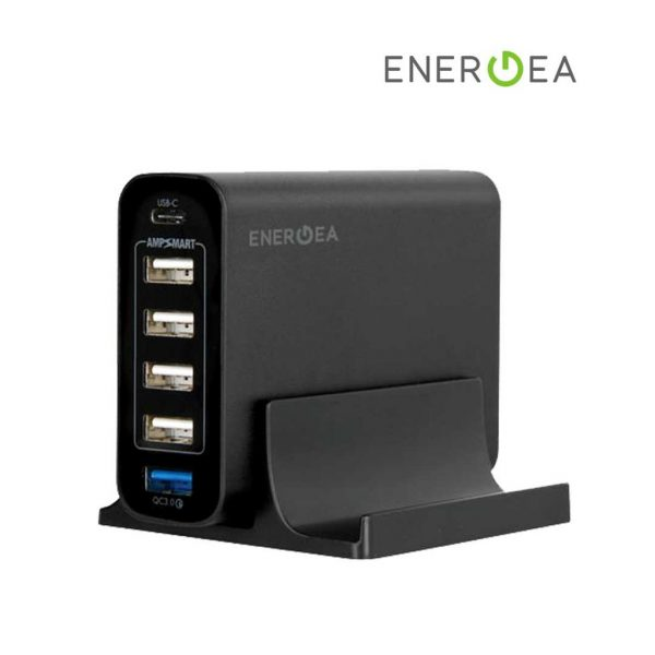 Energea - Power Hub 6C Charging Station QC 3.0 USB C Gray