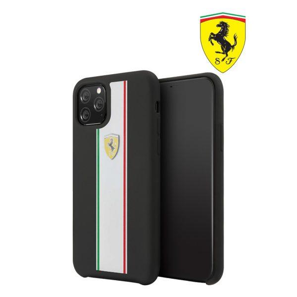 Ferrari On Track Pista Silicon Case Black - Casing IPhone 11 Pro Max 6.5