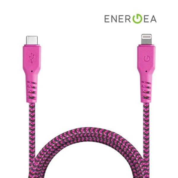 Energea Fibratough Sync Cable USB-C to Lightning 8Pin 1.5mtr Pink