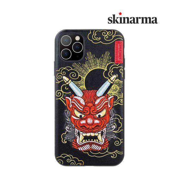 Skinarma Yokai Leather Case Akki Red - Casing IPhone 11 Pro 5.8