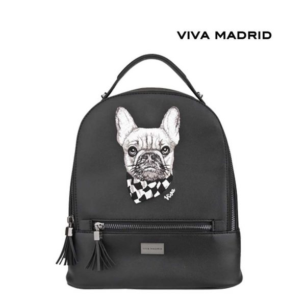 Viva Madrid Culto Backpack Woof It Up Tas Ransel Gambar Anjing