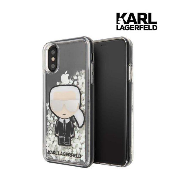 Karl Lagerfeld Liquid Glitter Iridescent Case - Casing IPhone X XS