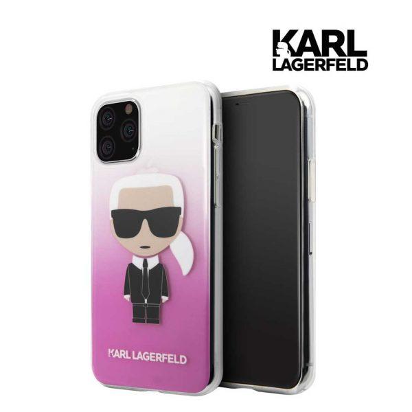 Karl Lagerfeld Transparant Ikonik Gradient Case Pink - Casing IPhone 11 Pro Max 6.5