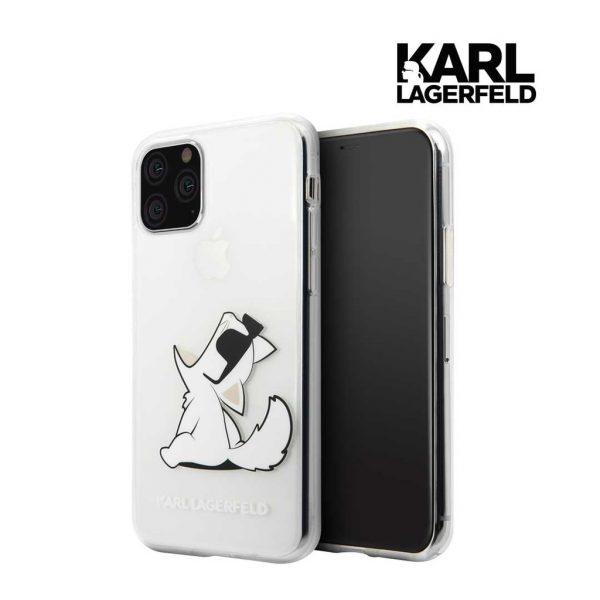 Karl Lagerfeld Trans Fun Choupette Clear Case - Casing Iphone 11 Pro Max 6.5