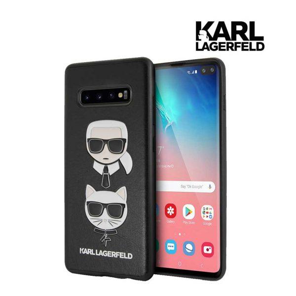 Karl Lagerfeld Pu Embossed Ikonik Karl Choupette Case - Casing Samsung S10