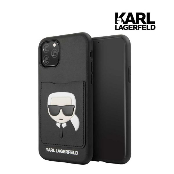 Karl Lagerfeld Pu Case With Cardslot Black - Casing IPhone 11 Pro 5.8
