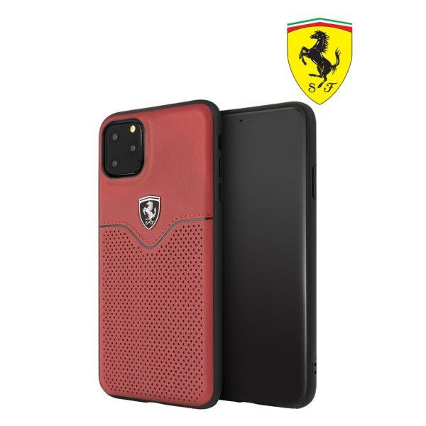 Ferrari Off Track Victory Pu Leather Case Red - Casing IPhone 11 Pro Max 6.5