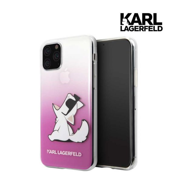 Karl Lagerfeld Trans Fun Choupette Pink Case - Casing Iphone 11 Pro Max 6.5
