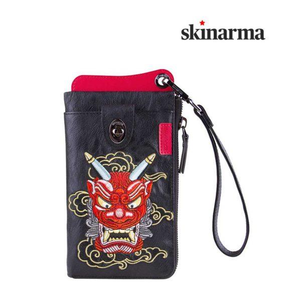 Skinarma Irezumi Travel Wallet Yokai Akki Red Dompet Jalan Dompet HP Dompet Slempang