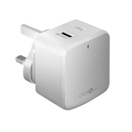 Energea - Travelite PD Quick 3.4A 2-USB Wall Charger (US EU) - White