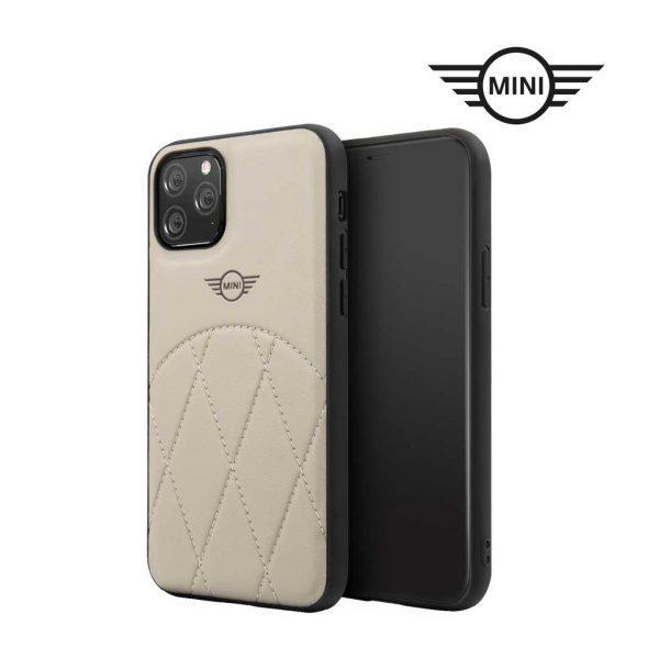 Mini Cooper PU Leather Crossing Black Case - Casing IPhone 11 Pro 5.8