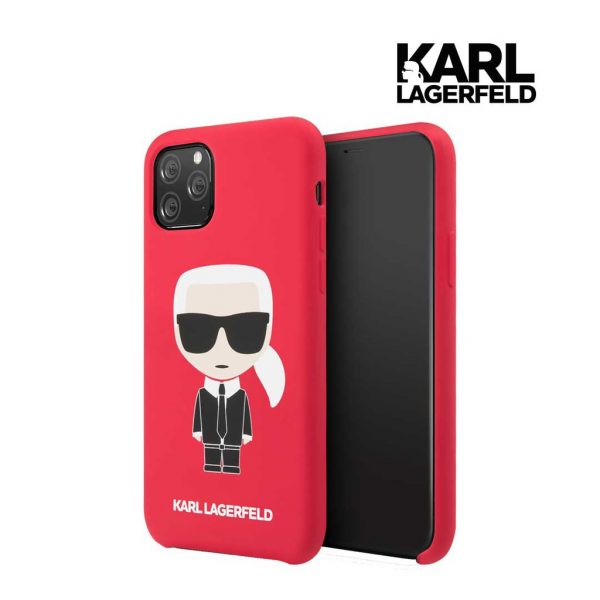 Karl Lagerfeld Silicone Karl Full Body Case Red - Casing IPhone 11 Pro Max 6.5