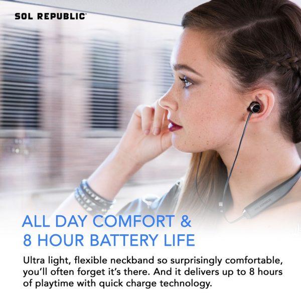 Sol Republic Earphone Bluetooth Original Shadow Fusion Black Earphones Sol Republic