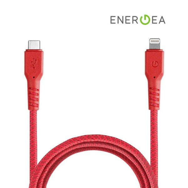 Energea Fibratough Sync Cable USB-C to Lightning 8Pin 1.5mtr Red