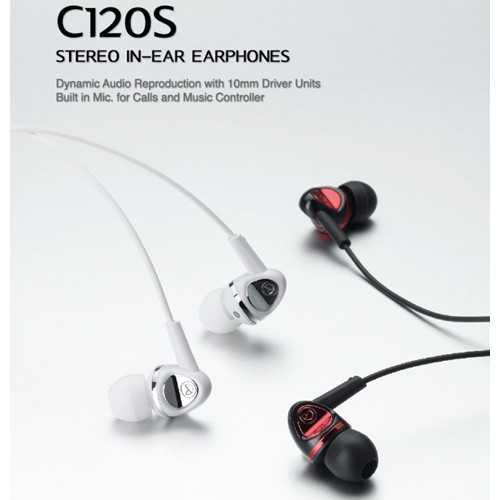 Cresyn Stereo Earphones C120S - Black