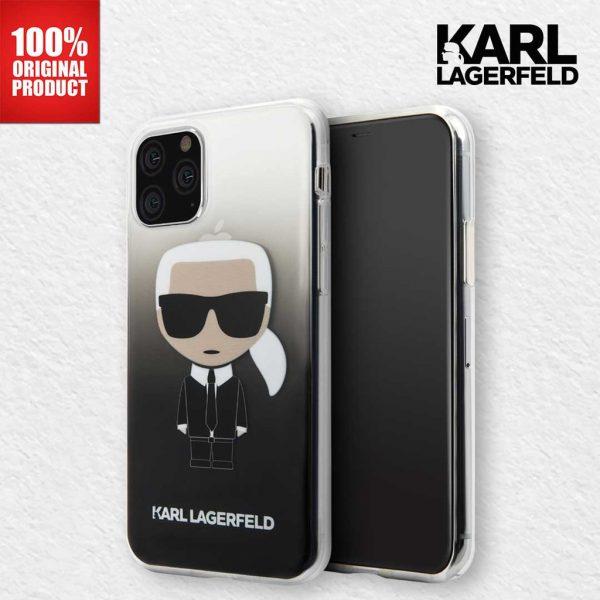 Karl Lagerfeld Transparant Ikonik Gradient Case Black - Casing IPhone 11 Pro Max 6.5