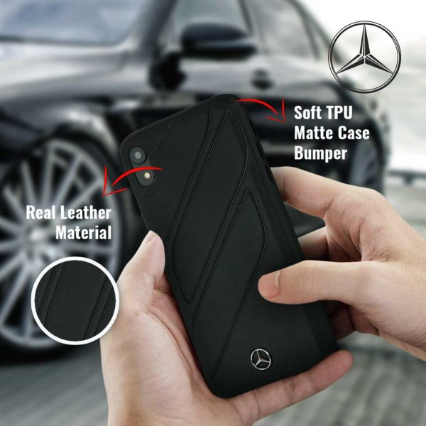 Mercedes Benz New Organic I Leather Silicone Case Black - Casing iPhone XR