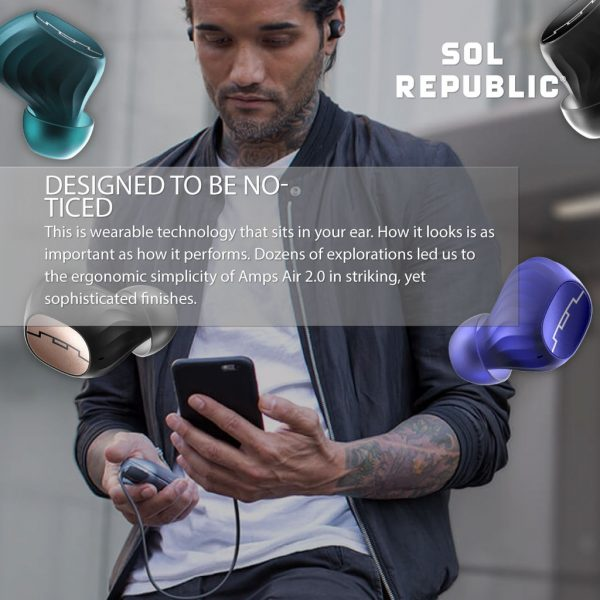 Sol Republic Amps Air True Wireless Earphone 2.0 Blue