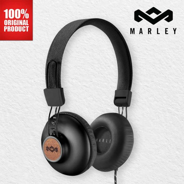 House of Marley Headphones Positive Vibration 2 Wire Signature Black