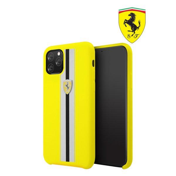 Ferrari On Track Pista Silicon Case Yellow - Casing IPhone 11 Pro Max 6.5