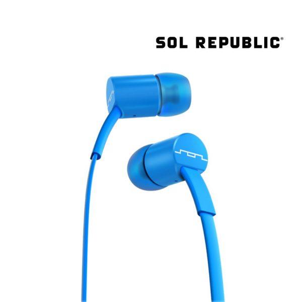 Sol Republic - Jax Wire Earphones 1-Button - Blue