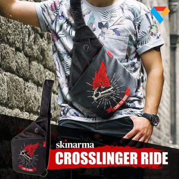 Skinarma Irezumi Cross Slinger Ride - Black