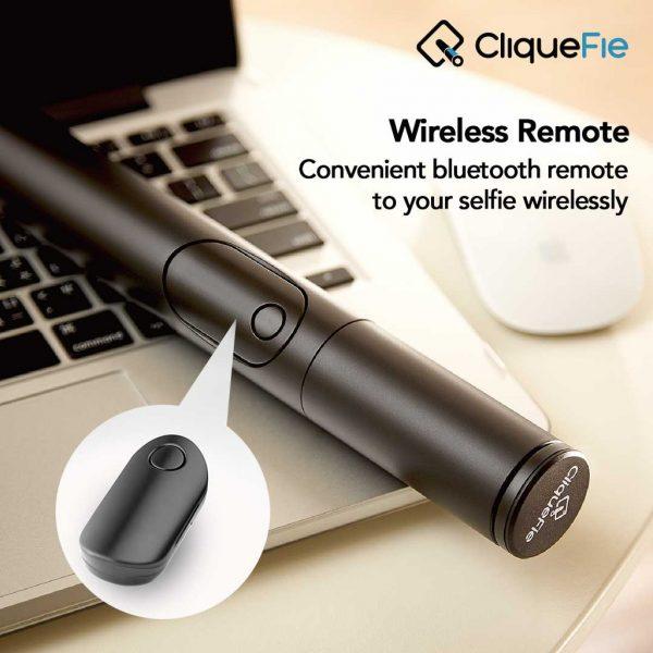 Cliquefie Selfie Stick Bluetooth Mini - Black