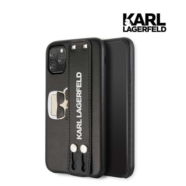 Karl Lagerfeld Head Emboss H.Strap PU Leather Case - Casing IPhone 11 Pro Max 6.5