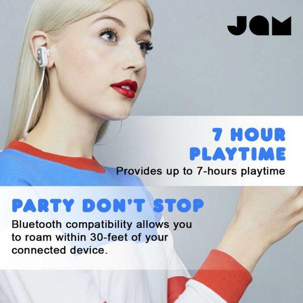 Jam Audio Earphones Bluetooth Live Large Black Earphones Wireless Jam Audio Earphones Jam Audio