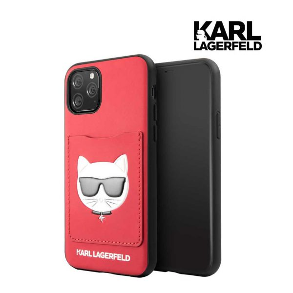 Karl Lagerfeld Pu Case With Cardslot Red - Casing IPhone 11 Pro Max 6.5