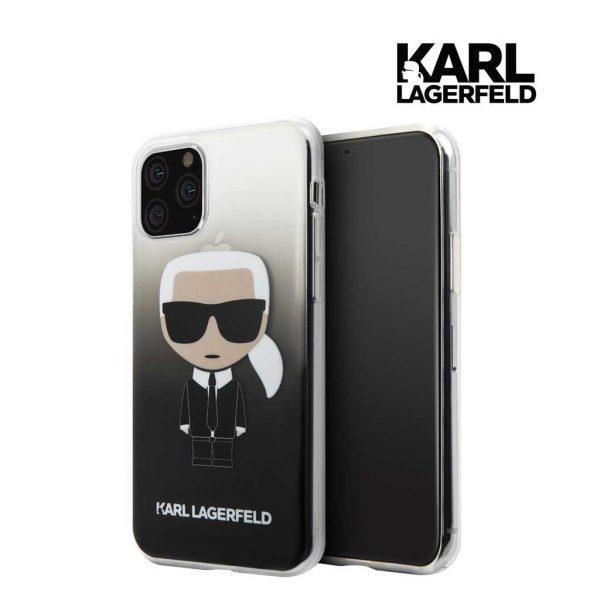 Karl Lagerfeld Transparant Ikonik Gradient Case Black - Casing IPhone 11 Pro 5.8