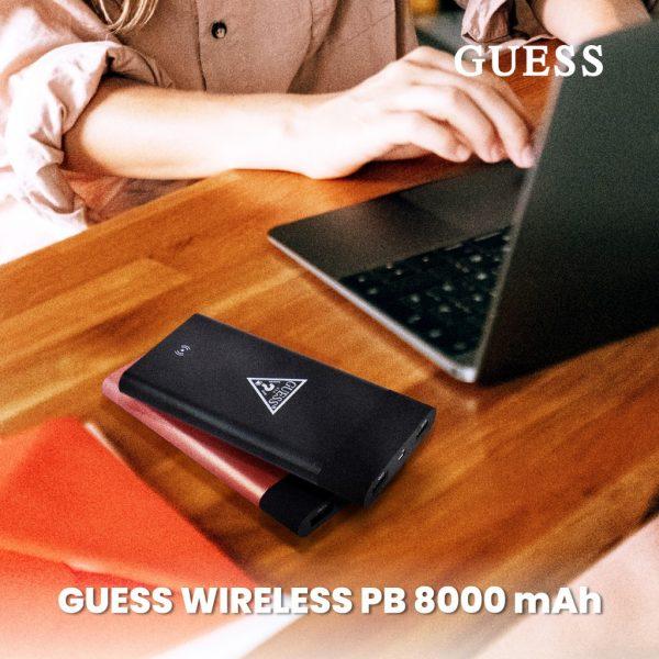 GUESS Wireless Powerbank 8000 mAh - Pink
