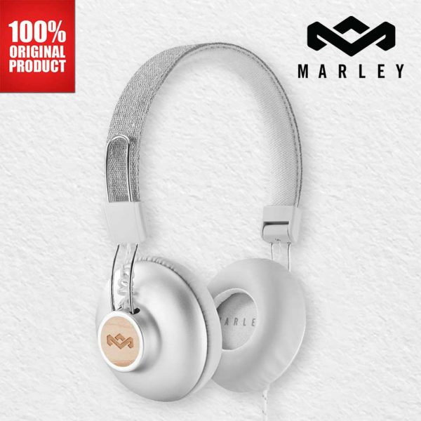 House of Marley Headphones Positive Vibration 2 Wire Silver