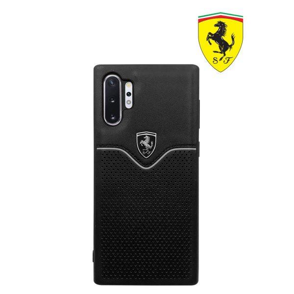 Ferrari Off Track Victory PU Leather Case Black - Casing Galaxy Note 10 Casing Note 10 Plus